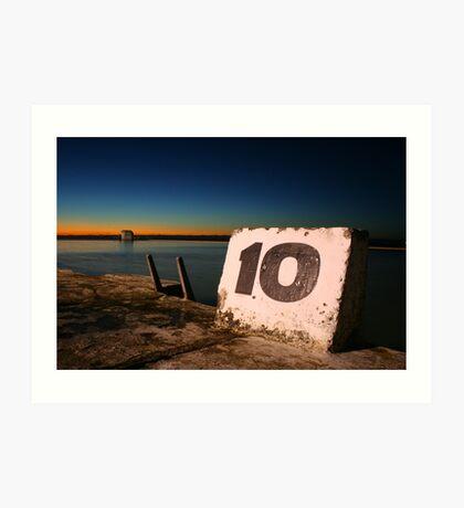 Ten Art Print