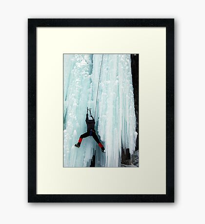 Ice Climber Framed Print