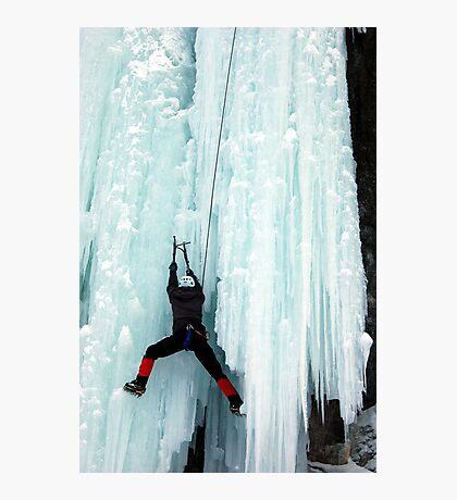 Ice Climber Photographic Print