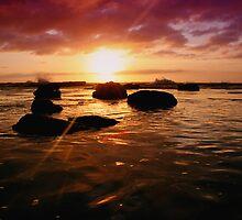 Beach Sunrise 1 by Mark Snelson