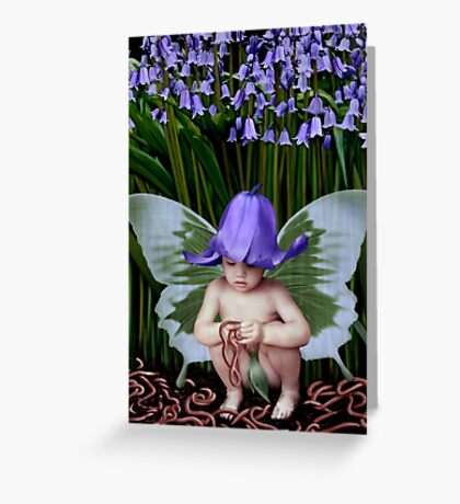 Worms and Bluebells Greeting Card