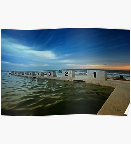 Merewether Ocean Baths at Dusk 2 Poster