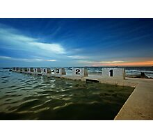 Merewether Ocean Baths at Dusk 2 Photographic Print