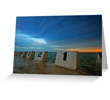 Merewether Ocean Baths at Dusk 3 Greeting Card