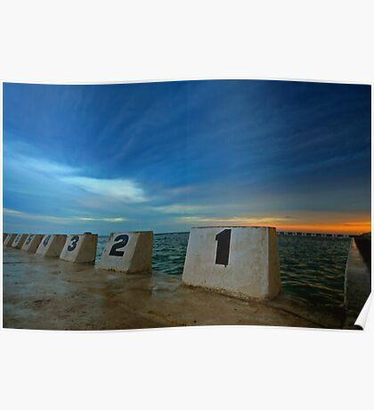 Merewether Ocean Baths at Dusk 3 Poster