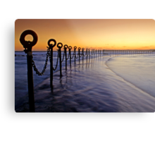Post & Chains at Dusk Metal Print