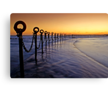 Post & Chains at Dusk Canvas Print