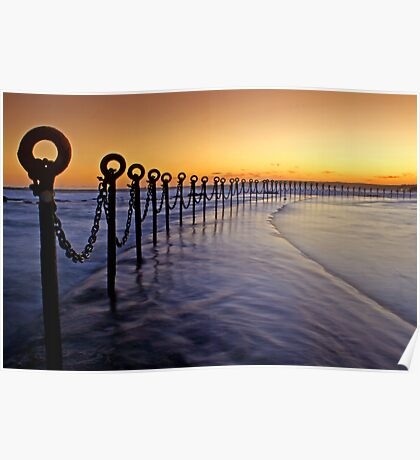 Post & Chains at Dusk Poster