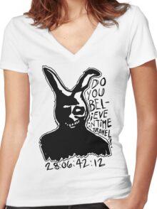 Frank the Rabbit Women's Fitted V-Neck T-Shirt