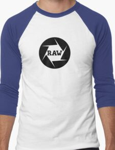 I shoot Raw Men's Baseball ¾ T-Shirt