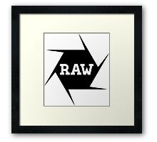 I shoot Raw Framed Print