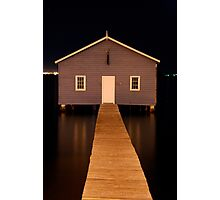 little boatshed on the river Photographic Print