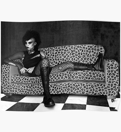 Reclining Goth Poster