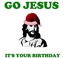 JESUS BIRTHDAY CHRISTMAS Photographic Print