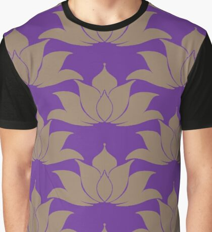 Lucky Lotus Pure Violet Graphic T-Shirt