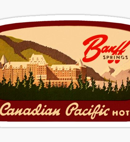 Banff Springs Hotel Alberta Vintage Travel Decal Sticker