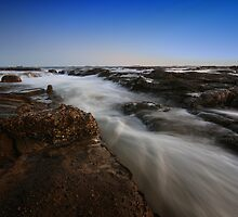 Rock Platform at Dusk 2 by Mark Snelson