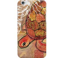 baby sea turtle- mixed media iPhone Case/Skin