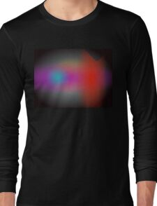 Black Hazy Airbrush Abstract Art Long Sleeve T-Shirt