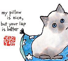 Kitten on Pillow by dosankodebbie