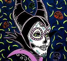 Sugar Skull Maleficent by Katherine  OGane