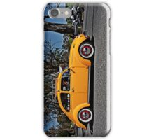 Yellow Volkswagen Beetle on Angas Creek Road iPhone Case/Skin