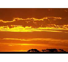 Burnt Orange Sunset Photographic Print