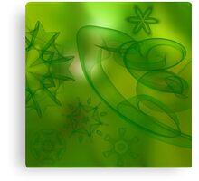 digital green scene  Canvas Print