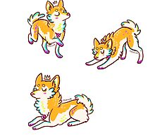 Tiny Prince Shiba Stickers by miaouler