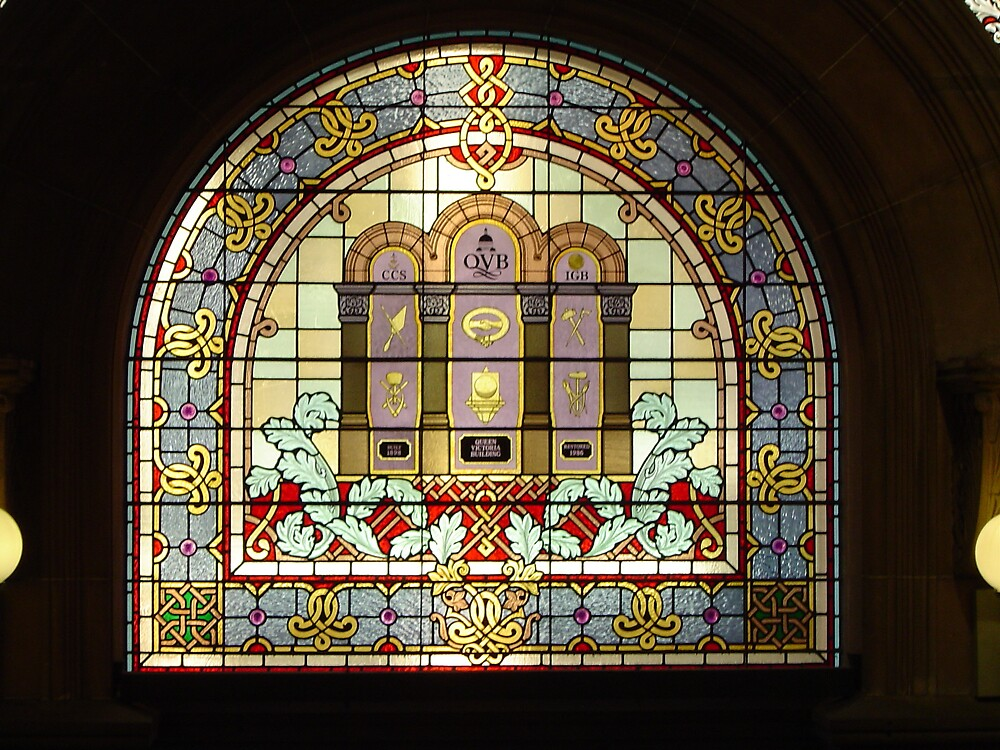 QVB Stained Glass Window by Barry Ross
