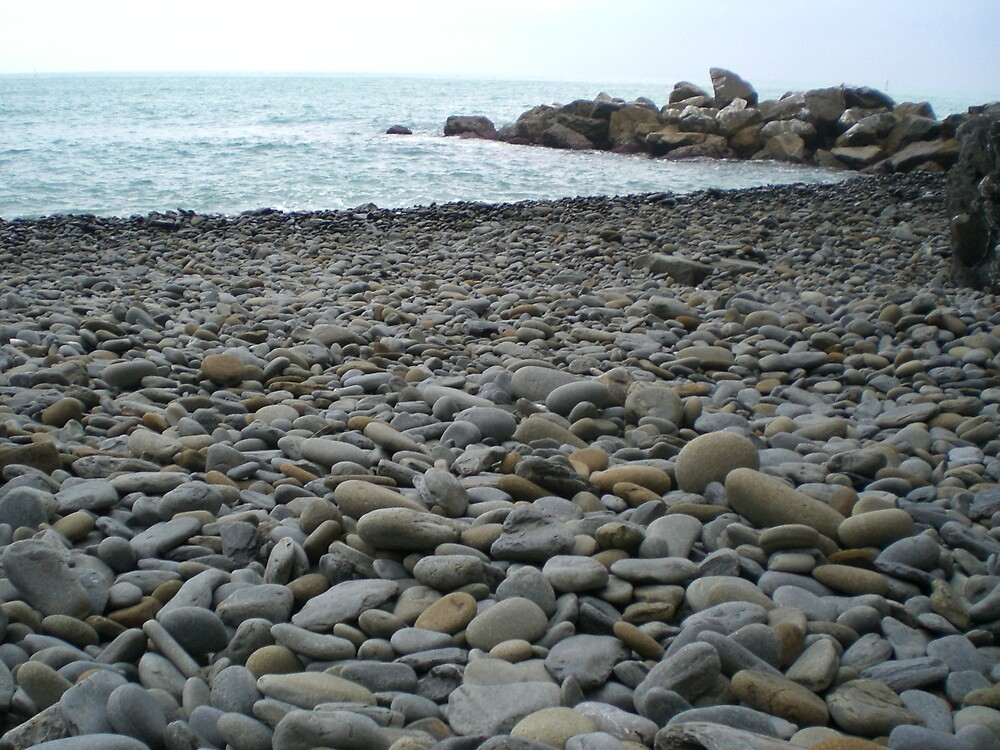 Pebbled Beach: Cinque Terre by mdjonesyd