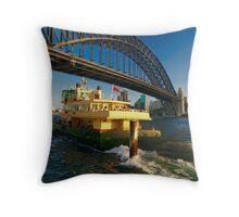 Ferry Away :: Milson's Point, Sydney Throw Pillow