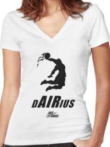 Darius Dunkius Women's Fitted V-Neck T-Shirt