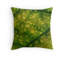 Green veins Throw Pillow