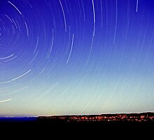 Star Trail - Blue Mountain by Alex Lau