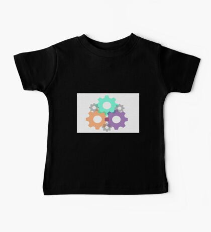 Stained Glass Gears Baby Tee