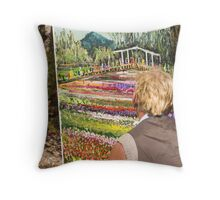 Painting Flowers Throw Pillow