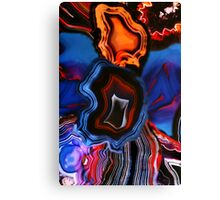 Blue Agate Layers of Earth Canvas Print