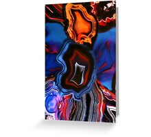 Blue Agate Layers of Earth Greeting Card