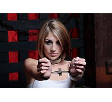 Amy in the Rigid Cuffs Photographic Print