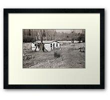 Abandoned House, Hops Fields, Tasmania Framed Print
