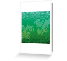 Retro wallpaper Greeting Card