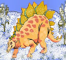 Stegosaurus in Winter by Margaret Stevens