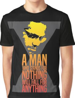 Malcolm X Typography Quotes Graphic T-Shirt