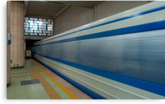 Beijing Subway Blur. by theurbannexus