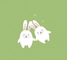 Bunnies in love by olarty
