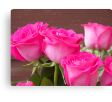 Pink Roses 4 Canvas Print