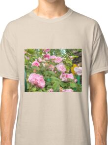 Pink Roses in the Garden Classic T-Shirt