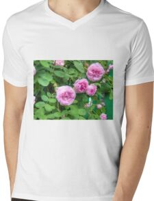 Pink Roses in the Garden 2 Mens V-Neck T-Shirt