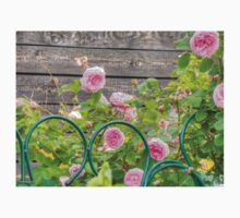Pink Roses in the Garden 3 Kids Tee